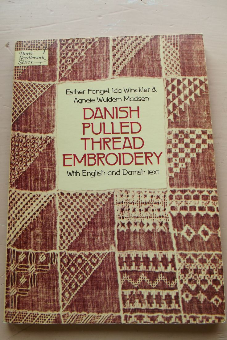 pulled thread embroidery | 1977 DANISH Pulled THREAD EMBROIDERY - Vintage Softcover Book