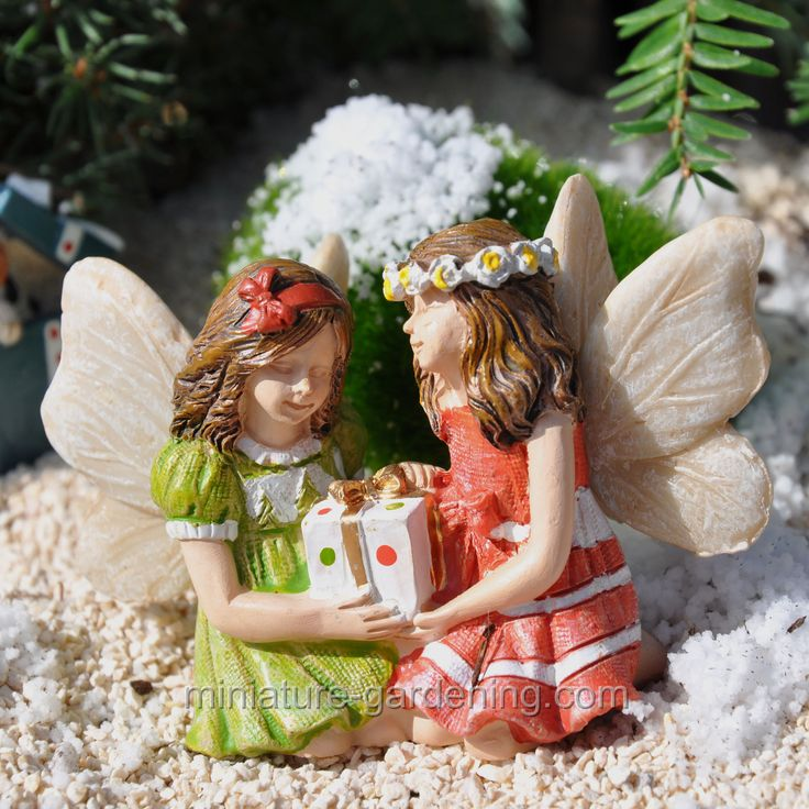 Fairies Jackie And Jenny With Gift