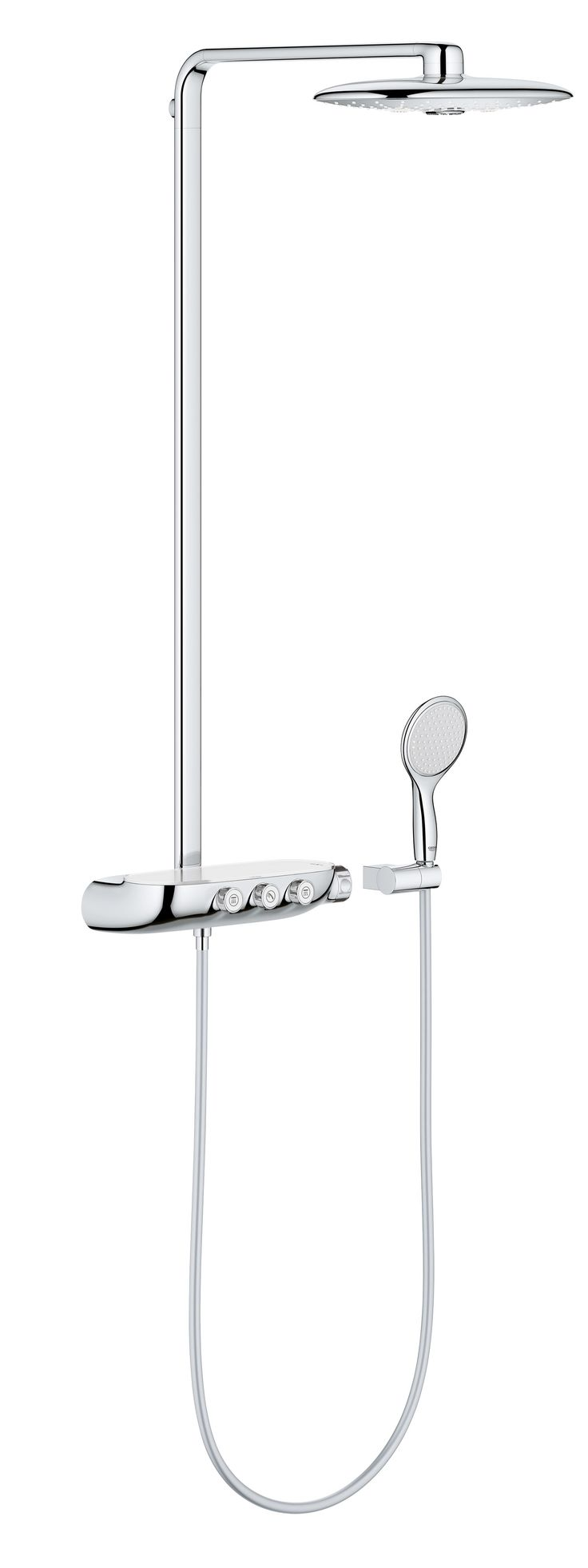 GROHE's Rainshower now comes with SmartControl, an innovative design that lets you personalise your shower experience and control it with a single touch. #Rainshower #SmartControl #bathroom http://www.grohe.co.uk/en_gb/bathroom-collection/showers-rainshower-systems.html