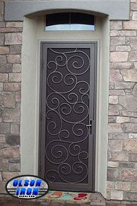 """Olson Wrought Iron Security Doors and Security Window Guards! """"Another Awesome Job by Olson Iron"""" #olsoniron #LASVEGAS"""