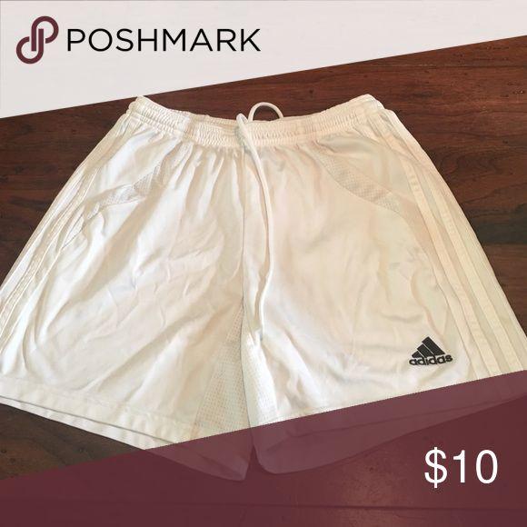 Adidas soccer shorts Adidas soccer shorts. White. Size small Adidas Shorts