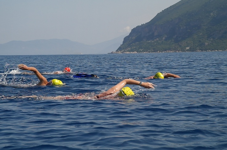 Swimming from Kefalonia to Ithaca