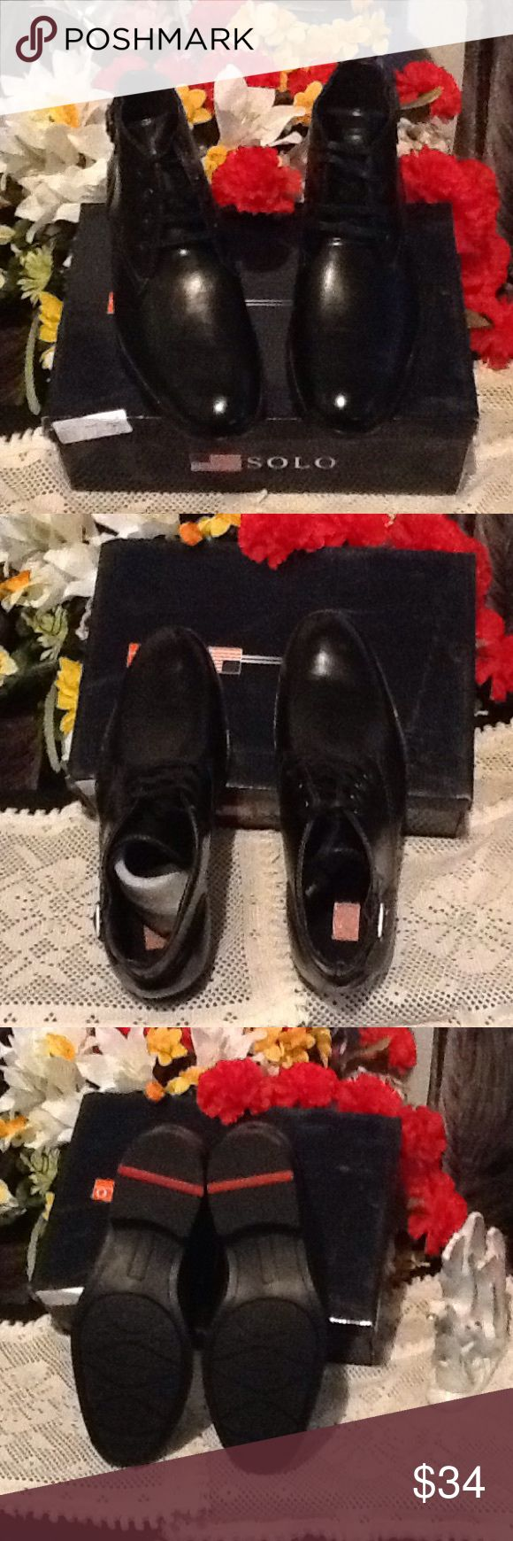 Chicago Leather Lining  SOLO MEN SHOE BRAND NWOT Very Adorable Chicago Leather Lining SOLO MEN SHOE 👔👖👞💼 Chicago SOLO Shoes Cowboy & Western Boots