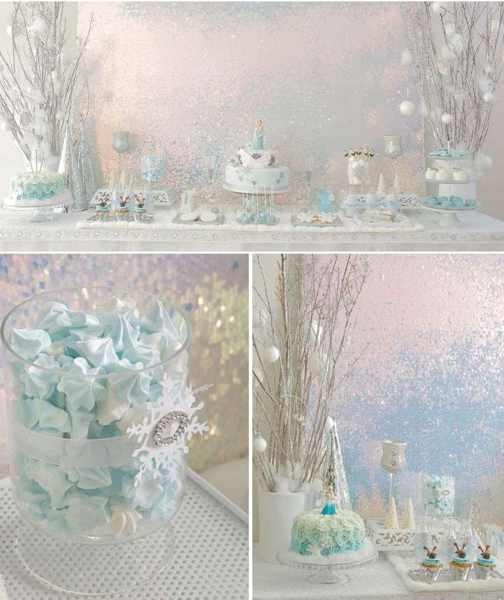 Decoración mesa dulce Frozen