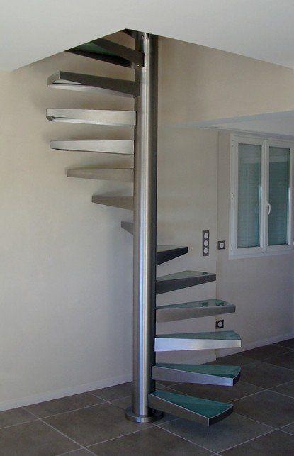 escalier helicoidal inox