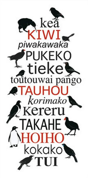 Indigenous New Zealand Birds - Red Ink Design. imagevault.co.nz