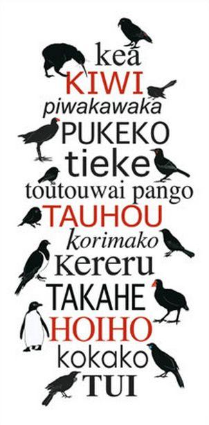 Indigenous New Zealand Birds - Red Ink Design. imagevault.co.nz