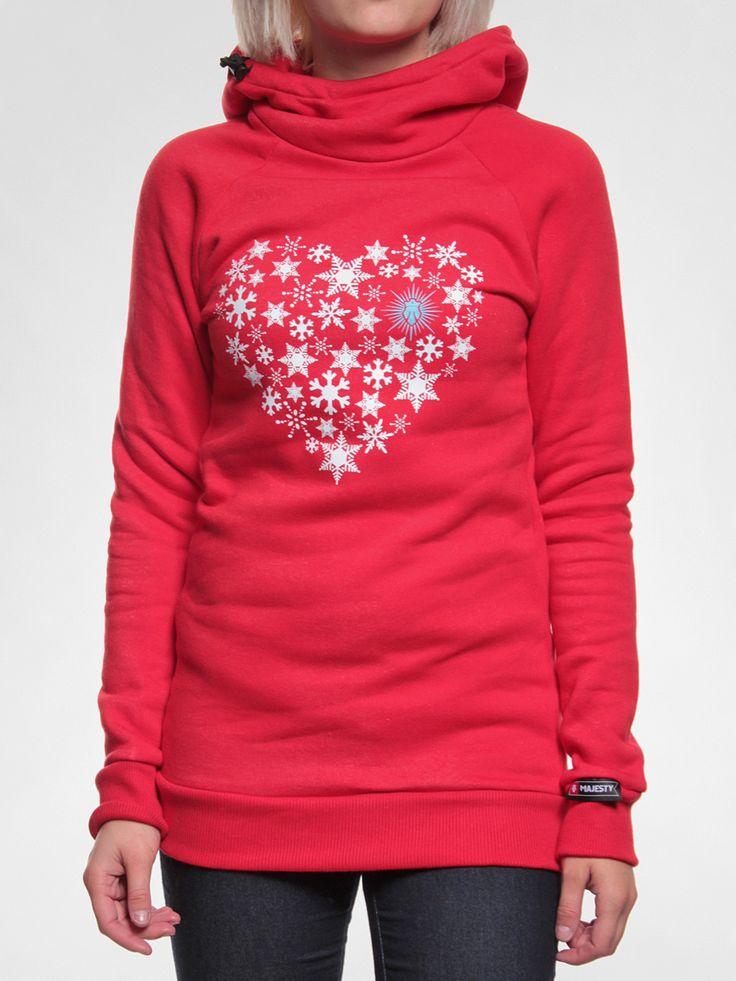 Bluza z kapturem Majesty Snow H HD Wmn (red) - Największy wybór Bluzy Majesty | Supersklep.pl
