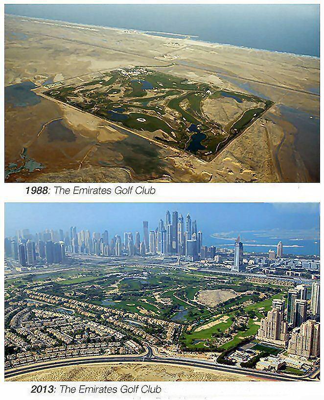 WOW: The Emirates Golf Club 1988 vs. 2013