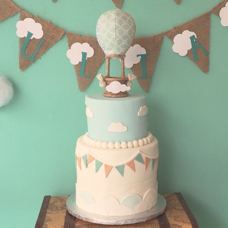 Hot Air Balloon Cake by Lana Cakes