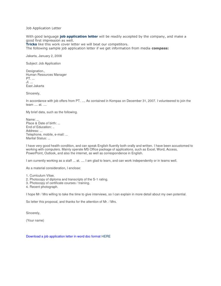 best application letter for job business and letters are aplg - human resource application letter