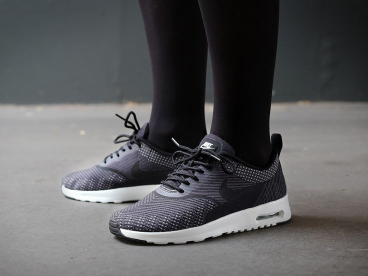 Nike Air Max Thea Jacquard Black White leoncamier.co.uk