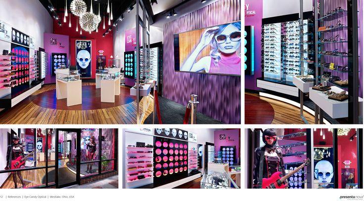 Eye Candy Optical Office Ohio,USA By Presenta Nova Visit us at www.presenta-nova.us visit our showroom in Atlanta,GA 1935 Delk industrial blvd Marietta,GA 30067 Contact: 678.427.2982