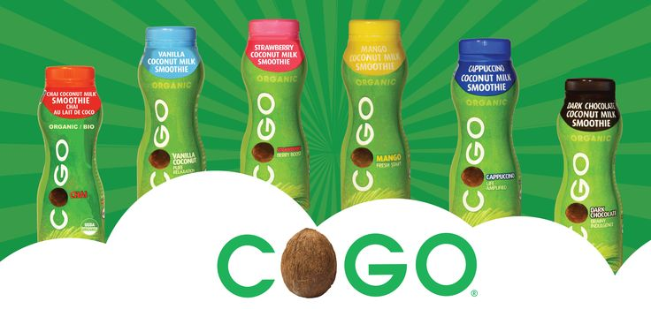Social media header for COGO Coconut Milk Smoothies