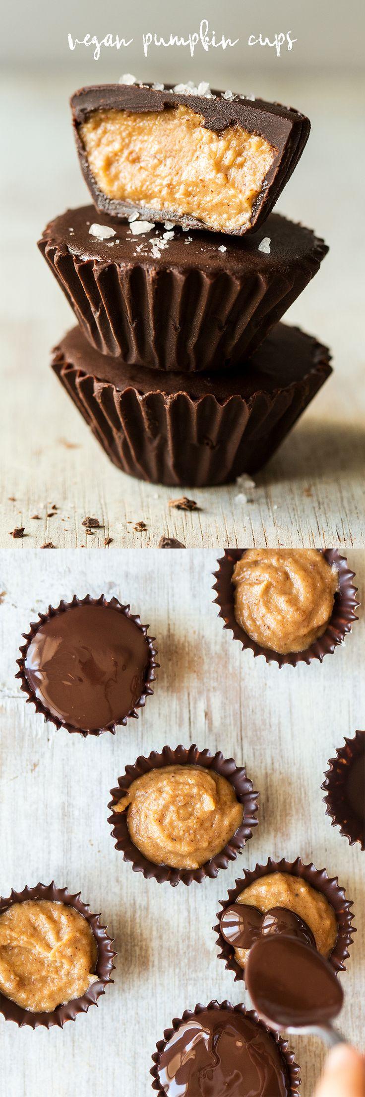 #sweets #vegan #dairyfree #pumpkin #chocolatecups #dessert #desserts #treat #xmas #christmas #spicedpumpkin #pumpkinspice #chocolate