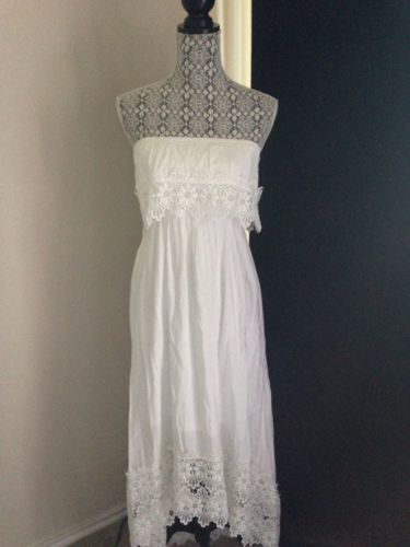 Marshall's had this for $24.99 this week in a longer version. Super CUTE! Solitaire Swim Women's cover-up beach dress white Crochet Lace Detail NWT Medium