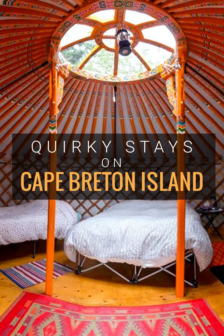 Forget a hotel rooom and opt for a unique stay in one of these amazing spots like the Mongolian inspired yurts on Cape Breton. They are the perfect spot to hunker down in and get close to nature.