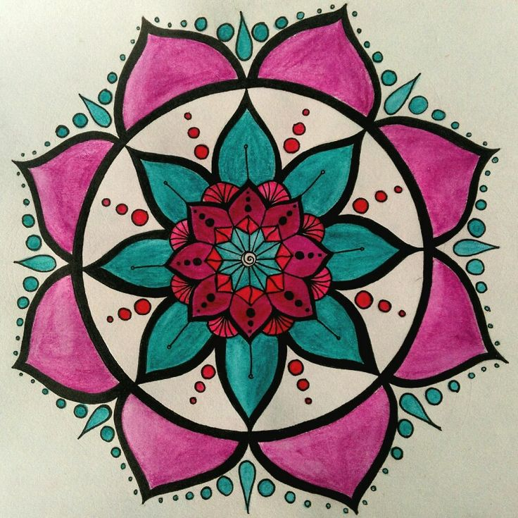 My first try at drawing a mandala. It's so relaxing, I love it!