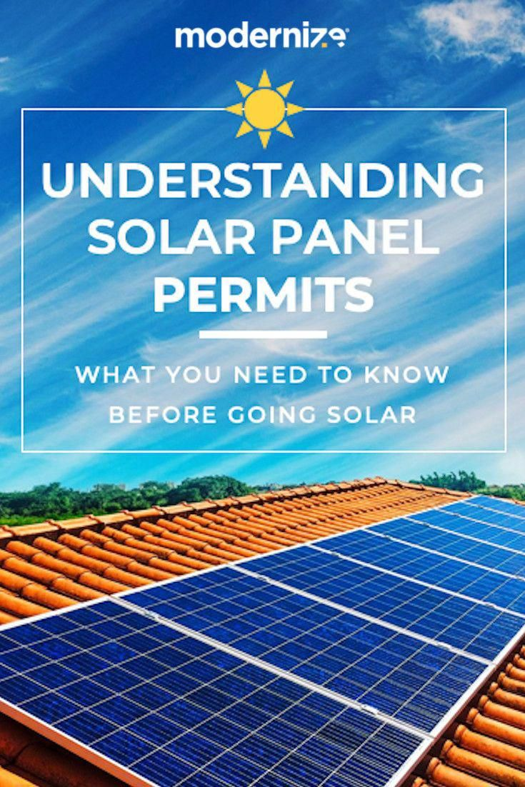 Many Homeowners Expect To Need A Permit For Large Scale Home Improvement Projects Such As Replacing A Roof Or Adding An Additi In 2020 Solar Panels Solar Solar Heating