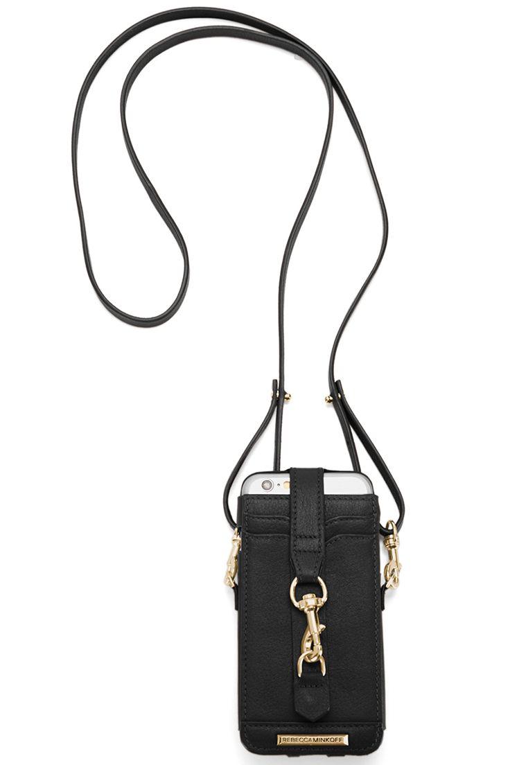 Rebecca Minkoff phone crossbody bag, $80, rebeccaminkoff.com.    - HarpersBAZAAR.com