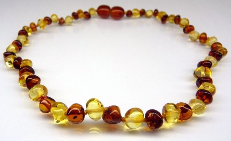 Genuine Baltic Amber Beads Baby Teething Necklace unisex