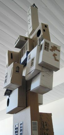 Annalise Rees cardboard city sculpture- inspiration for Education Foundation Gala?