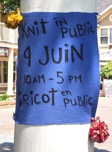 2012 National Kint In Public Day-- Fun in Sutton, Quebec!