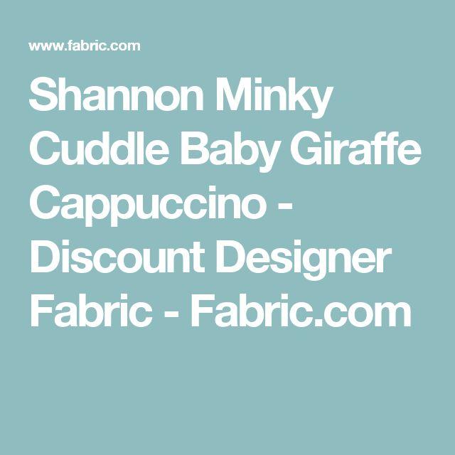 Shannon Minky Cuddle Baby Giraffe Cappuccino - Discount Designer Fabric -  Fabric.com