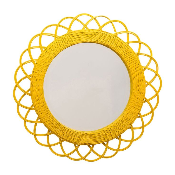 Browse Tropical Mirrors Online or Visit Our Showrooms To Get Inspired With The Latest Homewares From The Family Love Tree - Woven Mirror (Mustard)
