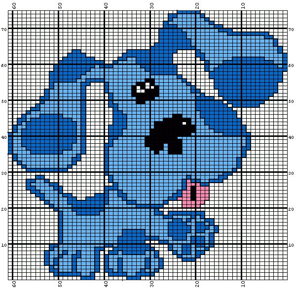 Blue From Blues Clues Knitting Chart Knitting Charts