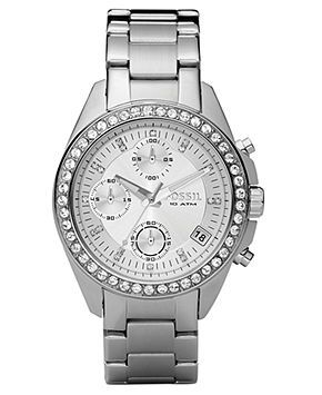 Fossil Watch, Women's Chronograph Decker Stainless Steel Bracelet 38mm ES2681 - Women's Watches - Jewelry & Watches - Macy's