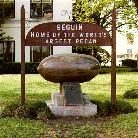 My hometown, Seguin, TX -- yes, home of the world's largest pecan! :)