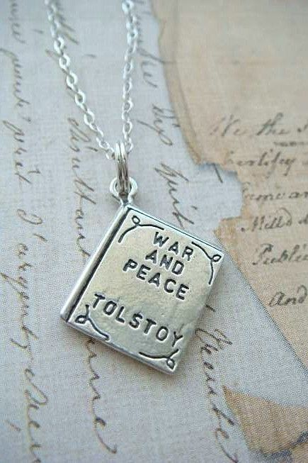 War and Peace sterling silver charm from Etsy.