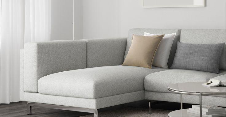 IKEA NOCKEBY 3-sits soffa med schäslong