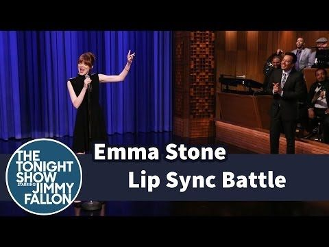 Jimmy Fallon and Emma Stone Engage in Intense Lipsync Battle-i am slightey disturbed by how good she is at this