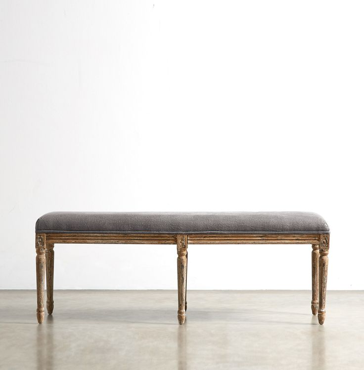 The JULIETTE Bench - in Wrinkled Grey - Swoon Editions - swooneditions.com