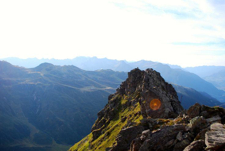 Traumhafte Aussicht vom Klettersteig Burg #silvrettamontafon #climbing #klettern #bergsommer