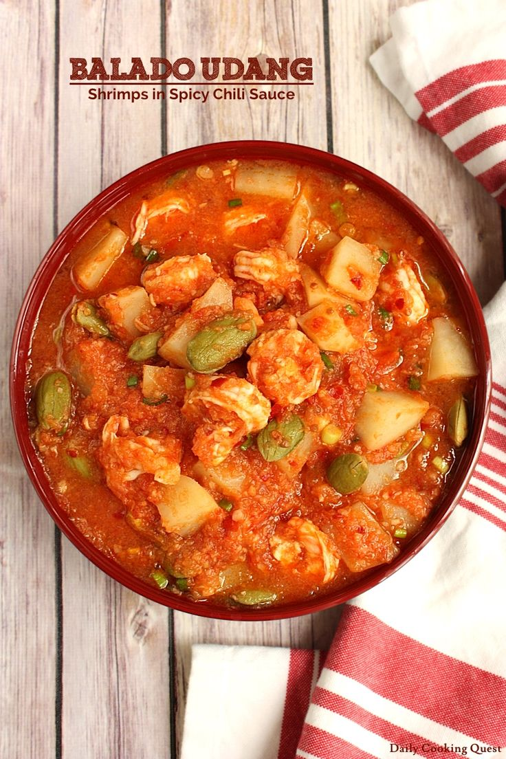 Balado Udang - Shrimps in Spicy Chili Sauce