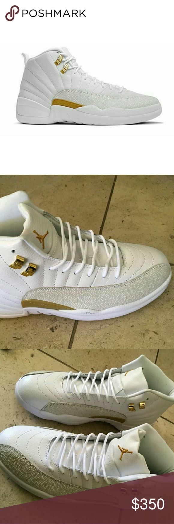 """*EXCLUSIVE* Jordan Retro 12 """"OVO"""" White We sell them new, they also come with box.  THESE ARE 50% UA. NO ONE SELLS THESE 100% AUTHENTIC We sell them less, and still great quality! Mens & Womens Sizes SERIOUS BUSINESS ONLY PLEASE!  P a y p a l is the only option we use. CONTACT BEFORE YOU PURCHASE PLEASE! Jordan Shoes Athletic Shoes"""