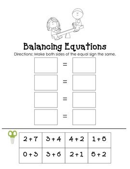 Balancing Equations FREEBIE