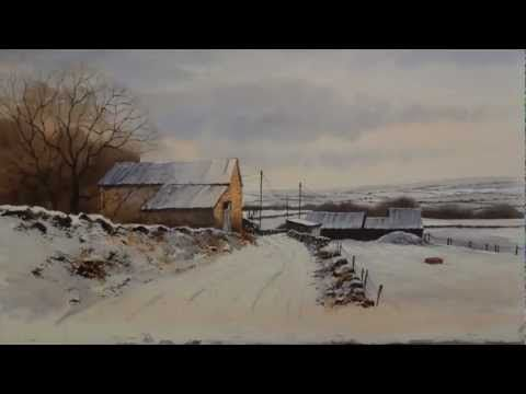 A time lapse video of Geoff Kersey's Winter Landscape lesson which is available now on ArtTutor.