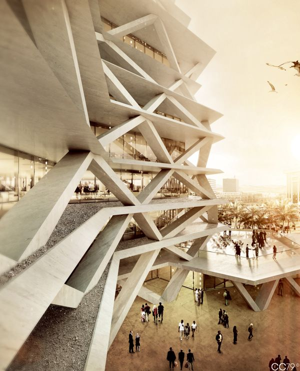 One Airport Square - Accra, Ghana by cristian chierici, via Behance