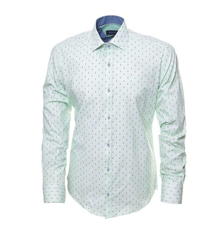 Рубашка мятного цвета по супер выгодной цене 3290 руб, с бесплатной доставкой по Москве и России без предоплаты. В наличие размеры XL L S M XXL, приезжайте к нам в магазин!