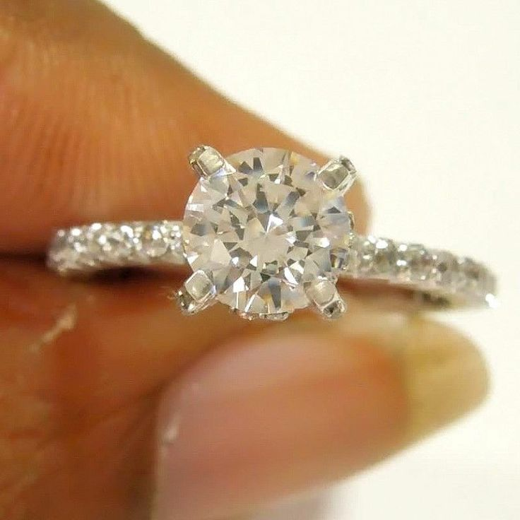 1.55ct Carat Round Cut Pure Brilliance Solitaire Engagement 14k Gold Ring