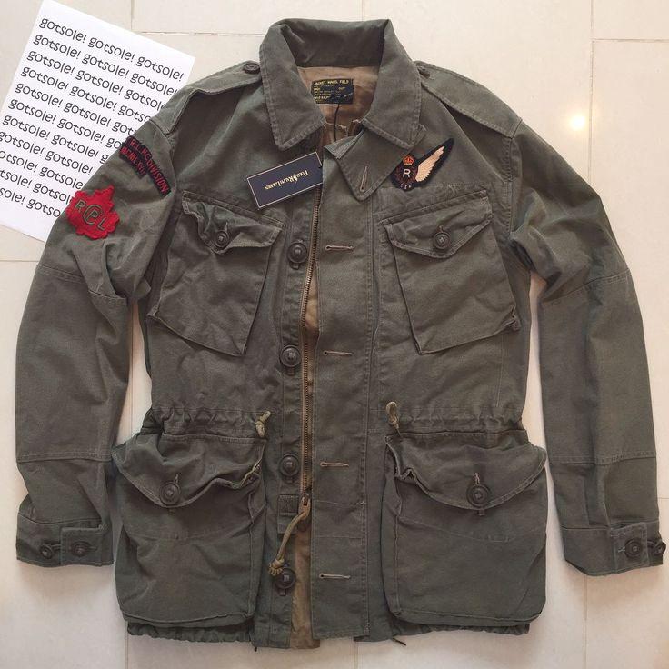RALPH LAUREN & CO MEN'S GREEN 'MILITARY COMBAT JACKET' ARMY STYLE COAT RRP £285   eBay