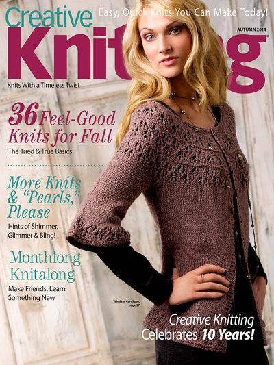 Creative Knitting Autumn 2014. Order a download of the issue here: http://www.anniescatalog.com/detail.html?code=AM11211