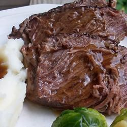 Best Slow-Cooker Roast Beef EVER... Perfectly seasoned, tender meat, with a hefty serving of gravy in every bite. Perfect fall yumminess and it's easy too!