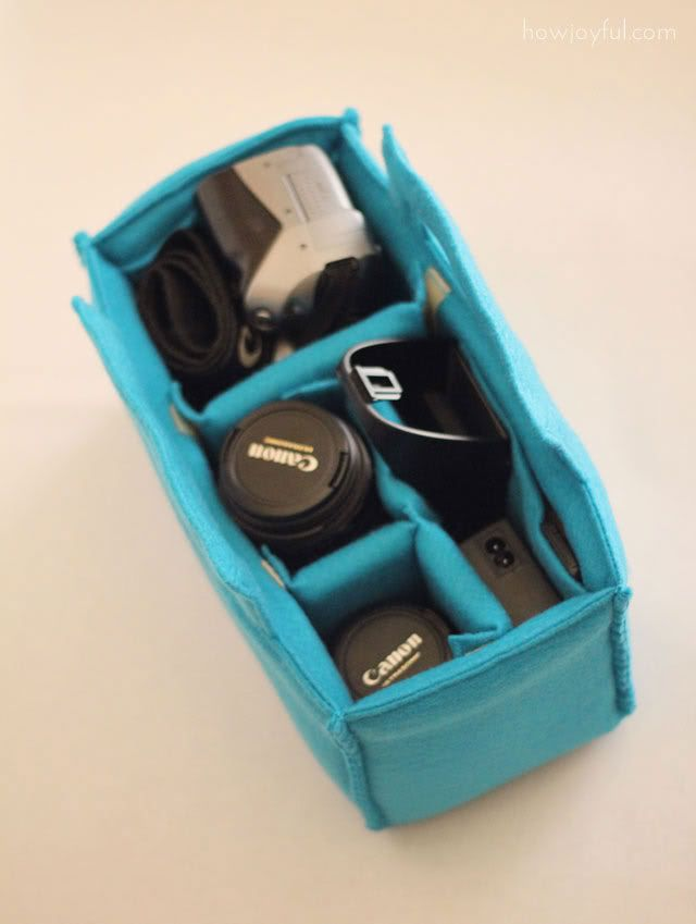 *GASP*  Why, oh, why have I not made this yet!   Camera carrying insert for your bag!