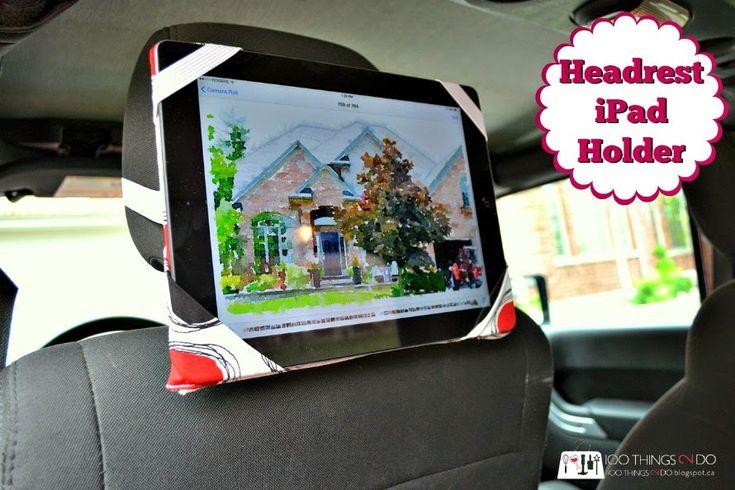 Headrest iPad Holder