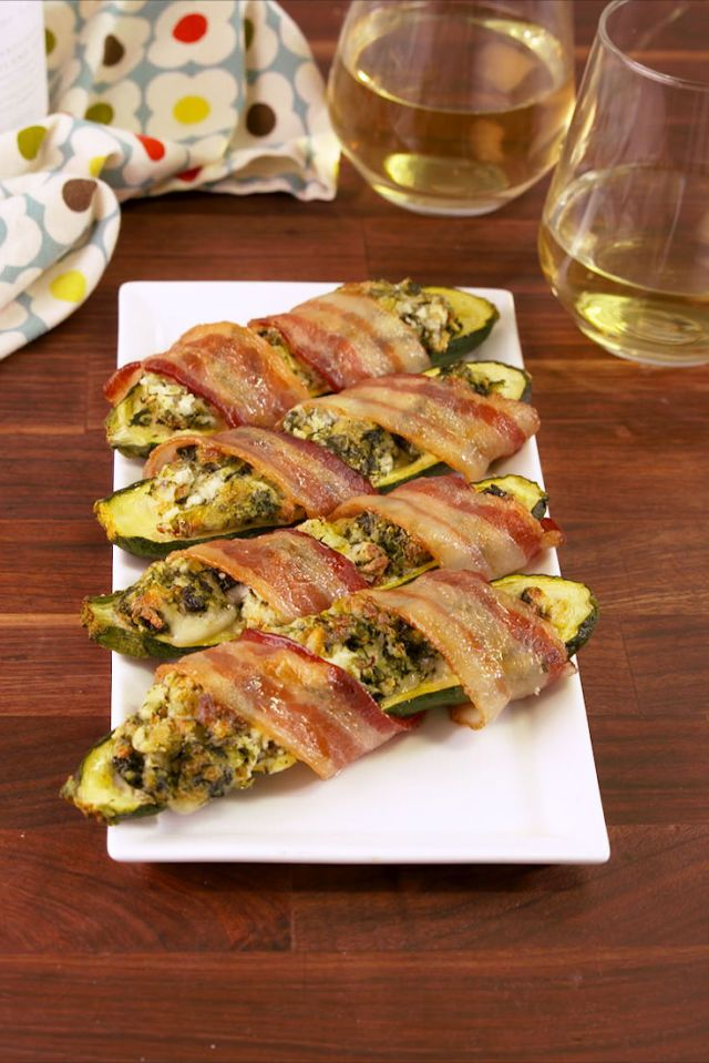 Bacon Wrapped Stuffed Zucchini   - Delish.com